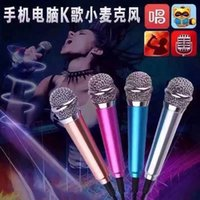 Wholesale New Mini microphone mobile phones sing KTV condenser microphone K fans condenser mic on your computer