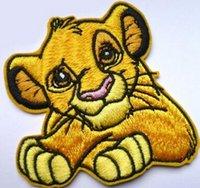 achat en gros de patches brodés garçons-Lion King SIMBA Movie brodé NOUVEAU FER ON ON SEW ON Patch Jeunes garçons filles cadeau de Noël