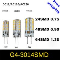 ac pendants - 2015 new arrival High Power LED Lamp SMD SMD DIMMABLE AC DC V G4 halogen bulb LED Corn Pendant light lamp