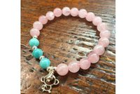 beaded pollen - Retail free delivery of silver monkey peach pollen Crystal Bracelet Gift year of fate recruit Amazonite lucky Bracelets