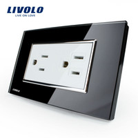 ac power socket manufacturers - Manufacturer Livolo US Standard Power Socket Crystal Glass VL C3C2US A AC V Wall Powerpoints Without Plug