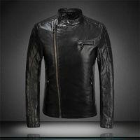 Wholesale 2016 windbreaker jacket men Direct PU leather top machine wagon jacket influx of men leather jackets