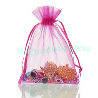 Wholesale 1000 pieces cm Sheer Organza Wedding Party Favor Decoration Gift Candy Bags Pouches colors