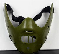 art lambs - Hot Halloween Resin Mask The Silence of the Lambs Art Work Masquerade Gift For Friend Party Fancy Masks Prom Cosplay Mask Fashion Carnival