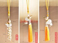 Wholesale 3 Styles Hanging Glass Gourd Pendant Cute Perfume Vials Interior Hanging Accessories Car Decoration