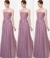 Cheap Elegant Charming Strapless A Line Long Evening Dresses Lace Upper Dress Evening Wear Peplum Tulle Formal Dresses Wedding Party Dress