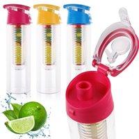 Wholesale New ML Fruit Lemon Drinkware Juice Cup Lemon Squeezer Water Bottle Cups Flip Lid Cups