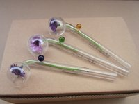 Wholesale cm cm Curved Smoking Glass Pipes Chillums Multi different mix color ball Mix Knots glass balancer G2