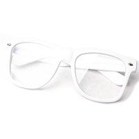 Wholesale 2015 Unisex Colors Clear Lens Nerd Geek Glasses Sunglasses Eyewear HK