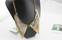 ally ladies fashion - RN Fashion Jewelry For Women Simulate Snake Leather Ally Collar Elegant Lady Necklace