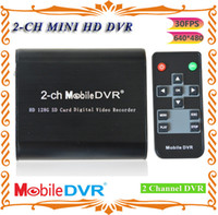 Wholesale 2 channel mini protable DVR DVR supports remote control and keypad operation at the same time
