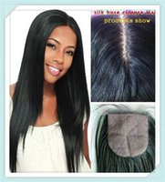 Cheap Brazilian Straight Silk Base Closure Free Middle 3 Part Top Silk Base Closure With Baby Hair Straight Silk Closure Bleached