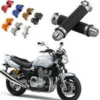 bike cnc - 1Pair quot Ergonomic motorcycle Hand Grips CNC Aluminum Rubber Gel for Sports Bike motorcycle Handlebar Motor Colors K1698