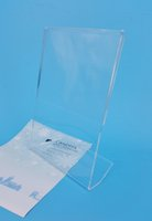 Wholesale 5 x7 Clear Acrylic Thick mm Plastic Sign Display Paper Label Card Price Tag Holder Stand On Tabletop L Shape High Quality