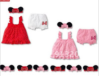 baby swing red - Hot Sale Cute Pretty Fashion Casual Cotton Baby Mikey Clothes Sets Swing Sets
