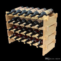 Wholesale Wooden Wine Rack DIY Assemble Wine Shelf Wood Holders Suitable for Hotel Cellar Bar Club Home