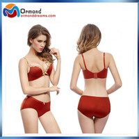 Wholesale Push Up Seamless Bra Set well made Microfiber Wire free on sale