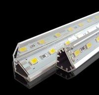 12 volt led light - 10pcs SMD5730 led bar light volt rigid led strip cabinet light LEDs M With V shaped Aluminum channel