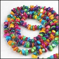 Wholesale 3strings Multicolor Agate Beads Charms Loose Stone Beads Fashion Jewelry Beads mm