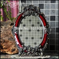 Wholesale Retro European table mirror metal single lovely princess mirror desktop wedding gift