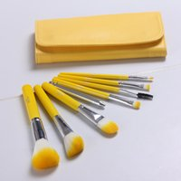 Wholesale Authentic Make up Brush Manufacturers Selling High quality Goods Paint Brush Set Small Yellow New Eight Sets Of Brush