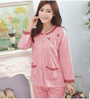 Wholesale women pyjamas long sleeve pajama set pajamas sleepwear pyjamas autimn winter pajamas sets