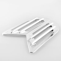 auto fender cover - Hot Chrome Car Vehicle Auto Air Flow Fender Cover Intake Grille Vent Decoration Sticker cmx4cm