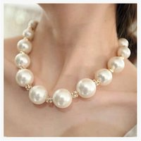Wholesale Korean Jewelry Accessories Necklace Sweater Chain Pendant Chain Exaggerated Clavicle Female Pearl Necklaces