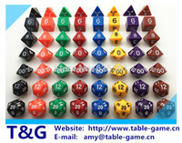 Wholesale Wholesales Hot set High Quality Colorful Dice Set D4 D6 D8 D10 D10 D12 D20 d d dungeons and dragons novelty Dice Set For Game