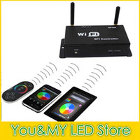 Wholesale Smartphone Conrtrol WiFi LPD WS2811 LED Strip Controller Touchable Screen Remote LED Controllerr Free DHL