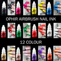 beginner airbrush - OPHIR mm Single Action Airbrush Kit with Compressor for Nail Art Beginner Set Color Ink Stencil Fake Nails OP NA003W