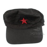 Wholesale Caps Red Star Military Cadet Cap Hat NO Hot Sale Embroidered Comfotable Black Green Colors for Outdoor