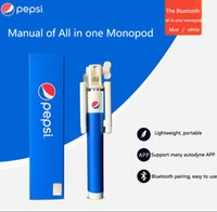 pepsi - Pepsi Extendable Aluminium Handheld Phone Holder Selfie Sticks Selfie Monopod Wireless Bluetooth Remote Shutter Control for IOS Android