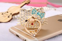 Wholesale 15 styes Bling Diamond Magnetic Car Cell Phone Case For iPhone Samsung Sony Huawei LG Xiaomi Stand Holder Metal Finger Ring Degrees