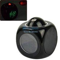 Wholesale 3Pcs LCD Clock Talking Projection Voice Sound Controlled Alarm Clock Desktop Digital Clock