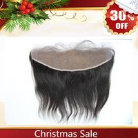 Wholesale Clearance Sale Lace Frontal closure Brazilian Peruvian Malaysian Indian remy Human hair natural black color Size Ear to Ear Closure