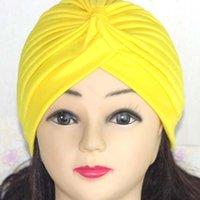 beanie urban - Colorful Stretchy beanie urban Casual Chemo Hijab Bandana Head Wrap Band Indian Cap Plain women s Hats knitted Winter Hairband
