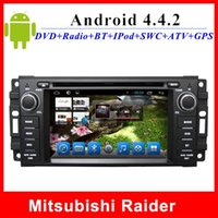 Wholesale 6 quot HD Capacitive screen car dvd for Mitsubishi Raider GPS Navigation TV Radio G WIFI BT AUX din car audio player