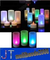 led light cup - Colorful LED Candle Light Romantic Sound Sensor Light LED Candle Tea Light Semitransparent Cup Candle Light Wedding Valentine s Day MYY10160