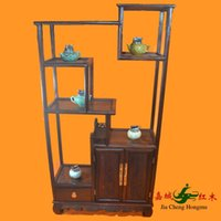 Wholesale Mahogany furniture Rosewood Shelf Square antique Chinese antique wooden curio shelf Decoration