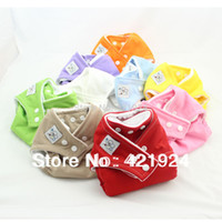 Wholesale Fast Delivery cloth baby nappy Reusable Washable Baby Cloth Nappies Nappy Diapers diaper cover Microfiber inserts