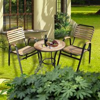 patio furniture - Sub wood balcony patio outdoor furniture leisure furniture wrought iron tables and chairs combination of teak chairs round tabl