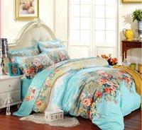 Cheap hot sale luxury brand 100% Cotton bedding set 4pcs bedding-set flower bed linen fashion 3d bedding sets
