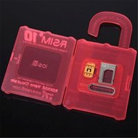 Wholesale R SIM rsim R SIM Unlock Card for iphone S C S plus iOS6 X X Support Sprint AT T T mobile Cricket