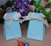 Cheap Wedding Favor Boxes Gift box pink Candy box chocolate boxes favor holders come ribbon 100pcs