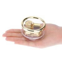music box movements - Exquisite Windup Music Box Acrylic Cylinder Transparent Musical Box Notes Movement Gold Melody Castle in the Sky I1156