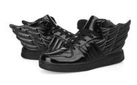 hip hop shoes - New women high top sneakers shoes within the higher wing hip hop shoes casual shoes patent leather shoes