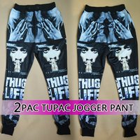Wholesale Raisevern pac tupac hip hop star printed joggers for women men girl boy skinny sweatpant sport pants hippie trousers sale