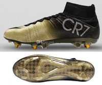 gold spikes - Drop Shipping Accepted Best Discount CR7 Mercurial Superfly CR7 New Boots New Ronaldo Shoes Football Soccer Cleats