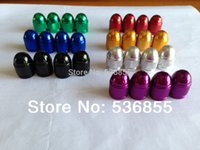 Wholesale High quality metal aluminum material colorful car wheel tire valve cap stem air dust caps Promotion